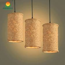 wicker chandelier