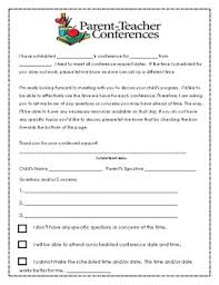 parent teacher conference letters parent teacher conference letter and form by colleen ferrarese tpt