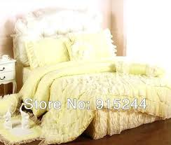 rustic 100cotton princess bedding sets bedskirt 4pcs set duvet covers pink lace blue yellow wedding bed