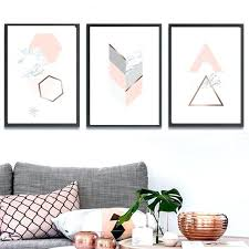 light pink and rose gold wall art