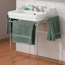 bathroom console sink metal legs