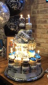 Beer Cupcake Tower Partygift Ideas 21st Birthday Cakes 21st