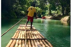 Image result for delivery by bamboo raft