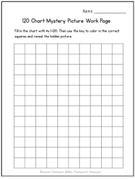 Free 120 Chart Mystery Picture Rainbow