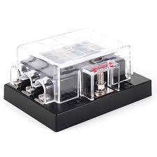 iztoss 6 way car atc ato fuse block holder box w blade fuses iztoss 6 way car atc ato fuse block holder box w blade fuses black
