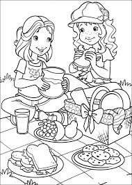 Kids N Fun Kleurplaat Holly Hobbie Lekker Picknicken