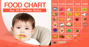 10 Month Baby Food Chart 10 Months Baby Food Chart Food Menu With Recipes