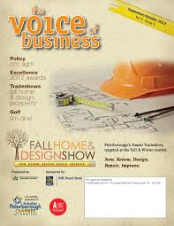 Grant Drew Designer Stone Peterborough On September October 2012 Voice Of Business By Peterborough
