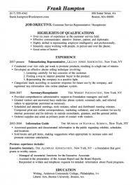 Sample Resume For Customer Service Best of Resume Sample Customer Service Receptionist Ready Made Resume