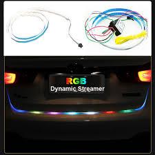Discount Warning Lights 120cm Car Styling Rgb Led Strip Lighting Rear Trunk Tail