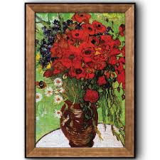 wall26 red poppies and daisies by vincent van gogh oil painting impressionist