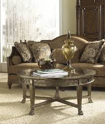 Styling A Round Coffee Table Grecian Style Round Coffee Table With Glass Top By Fine Furniture