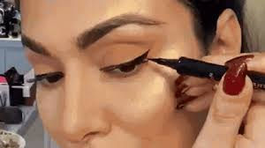 layer your liner with eyeshadow