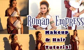 Ancient Roman Hair Style roman empress halloween hair & makeup tutorial youtube 2505 by wearticles.com