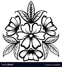 Flower Art Design Wild Rose Flowers Drawing And Sketch Line Art