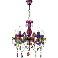 sou0555 souk 5 light multi colour chandelier