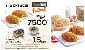 Promo Istimewa Breadtalk Festival Tebus Murah Semua Jenis Roti