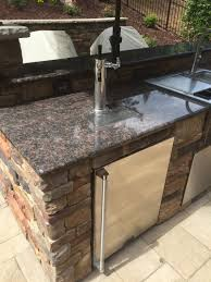 Granite For Outdoor Kitchen Charlotte Area Outdoor Kitchen Island Contruction Charlotte