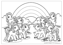 My little pony cartoon series revolves around colorful ponies with a unique symbol on their flanks. My Little Pony Coloring Book Pages My Little Pony Coloring Unicorn Coloring Pages Free Coloring Pages
