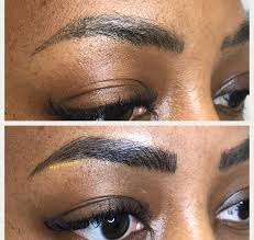 already have old permanent makeup we can go over it