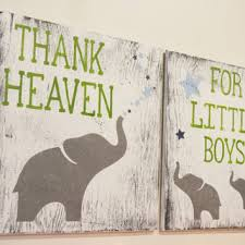thank heaven for little boys nursery decor boys nursery wall art on wood elephant nursery wall art with best wood elephant and baby products on wanelo
