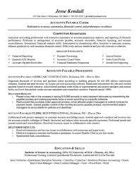 Accounts Payable Resume Objective Resume Accounts Payable Resume Objective