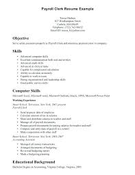 Clerical Resume Samples Resume Accounting Clerk Sample Accounting ...