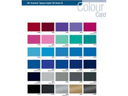 3m Vinyl Wrap Color Chart 3m Scotchcal 50 Intermediate Vinyl