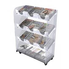 Newspaper Display Stands Cool Mobile 32 Title Acrylic Newspaper Display Stand Perspex Magazine