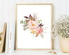 watercolor flower wall art