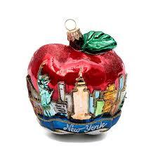 New York Apple Mundgeblasenen Glas Für Tannenbaum Online