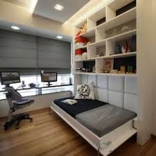spare bedroom ideas for guest contemporary spare room ideas with cool modern single bed design with light grey paded wall panel also white shelves also bedroom office designs home office bedroom
