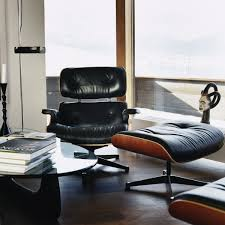 lounge chair for office. Vitra Lounge Chair With Ottoman Made From Cherry Wood For Office