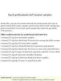 sushi chef resume professional chef resume sample top 8 professional chef  resume samples in this file