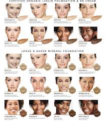 Bare Minerals Foundation Shades Chart Foundation Finder Inika Organic