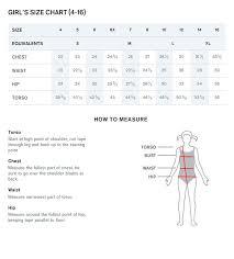 Youth Swim Jammer Size Chart Sizing Charts