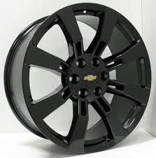 All Chevy chevy 22 inch rims : New 22 inch Chevy Black 8 Spoke Wheels Rims Silverado Tahoe ...