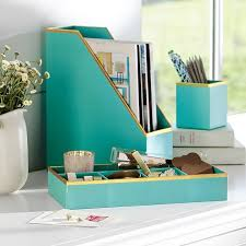 desk accessories. Contemporary Accessories Printed Paper Desk Accessories Set Solid Pool With Gold Trim Inside E