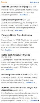Nokia Stock Quote Magnificent Stock Quote Widgets Web Services And XML Data API's For Websites