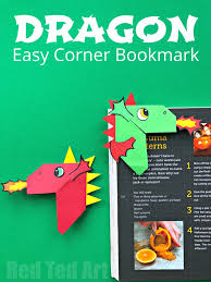 Dragon coloring sheets are a great tool to introduce your kids to this legendary creature. Fun Dragon Corner Bookmark Design Red Ted Art Make Crafting With Kids Easy Fun