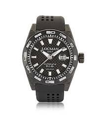 locman watches for men forzieri uk stealth 300 mt automatic black carbon fiber and titanium case w silicone strap men s watch