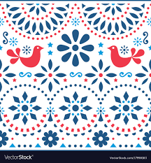 Mexican Pattern Simple Mexican Folk Art Seamless Pattern Royalty Free Vector Image
