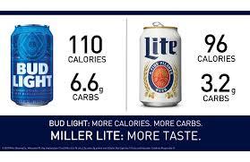 Bud Light Vs Miller Lite Ingredients About Those Bud Light Ads Millercoors Behind The Beer