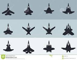 Futuristic Fighter Jet Designs Modern Futuristic Jet Fighters Silhouettes Stock Vector