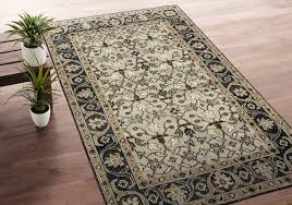 area rugs romeo hand knotted wool oatmeal charcoal area rug