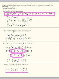 convert a quadratic equation