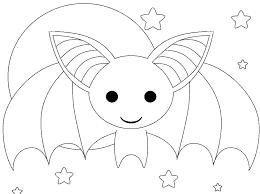 Scary Bat Coloring Pictures Cute Batman Symbol Superman Color Pages