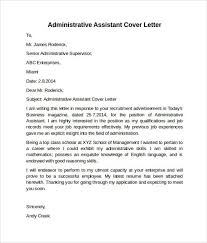 administrative officer cover letter sample administrative cover 44c7697b