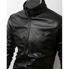 slim fit cross front biker black jacket men s leather jacket uk