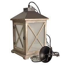 decoluce vintage fire lantern wood hanging light electric hurricane lantern chandelier farmhouse lamp industrial metal lighting fixtures ceiling without